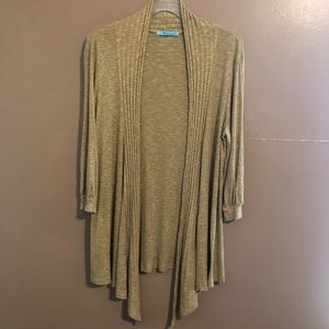Mustard  Heather Open Front Cardigan Size Large